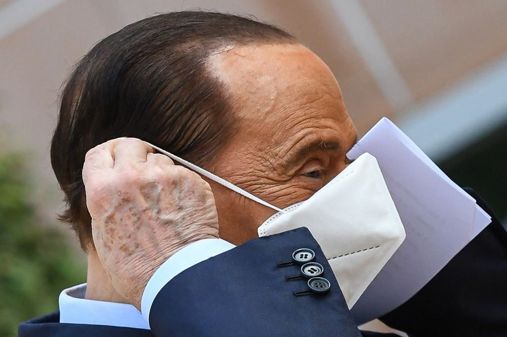 Former Italian prime minister Silvio Berlusconi has been in and out of hospital this year after contracting Covid-19 last September. — Reuters pic