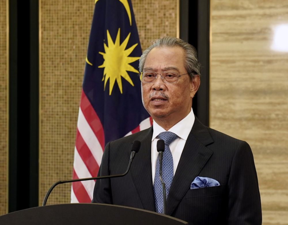 Tan Sri Muhyiddin Yassin's majority has never been officially established but is placed at 113 lawmakers from the 222-seat Parliament or just over the absolute minimum of 112 needed for a simple majority. — Bernama pic