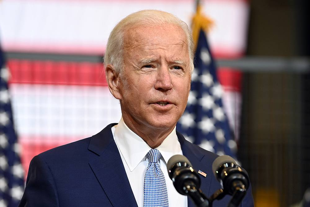 US Democratic presidential nominee Joe Biden speaks during a campaign appearance in Pittsburgh, Pennsylvania August 31, 2020. — Reuters pic