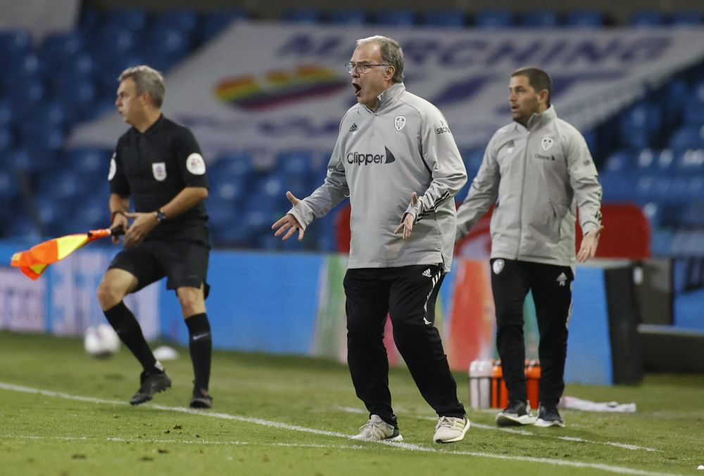 Leeds United manager Marcelo Bielsa reacts during the League Cup clash with Hull City at Elland Road in Leeds September 16, 2020. — Reuters pic