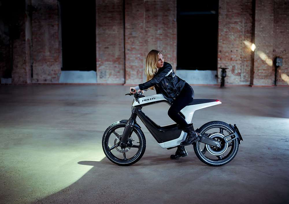The Novus Bike will retail for €39,900 not including tax. — Picture courtesy of Novus via AFP
