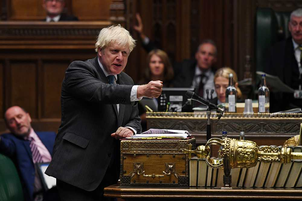 Britain's Prime Minister Boris Johnson speaks during the weekly question time debate in Parliament in London, Britain September 16, 2020. — UK Parliament handout via Reuters