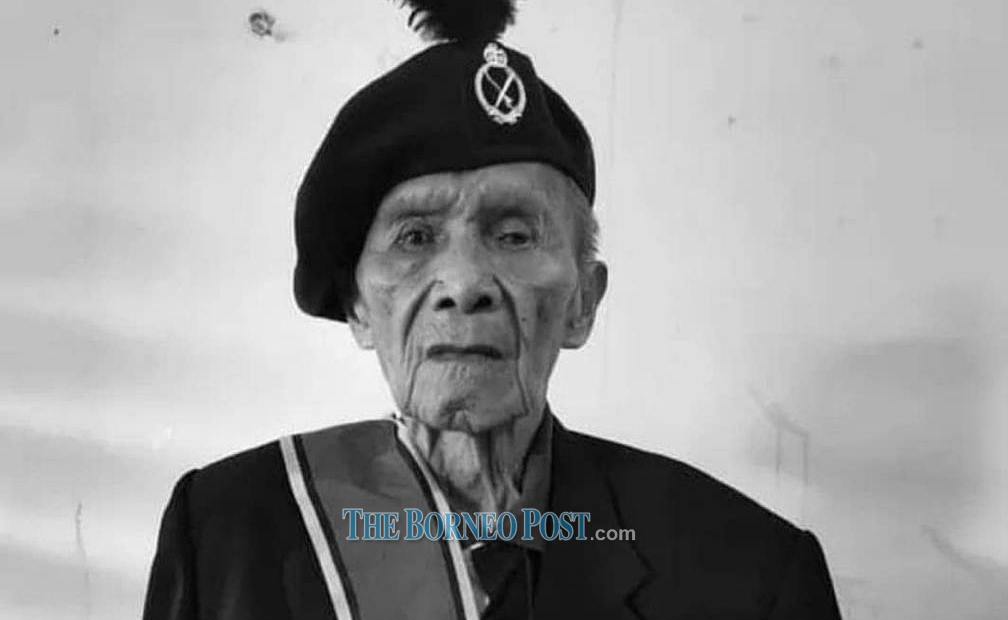 Datuk Awang Raweng was awarded the George Cross — the second highest award in the United Kingdom's honours system after the Victoria Cross — on November 20, 1951. ― Borneo Post pic