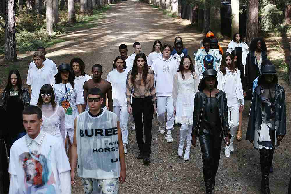 Models present creations from the Burberry Spring/Summer 2021 Collection during the London Fashion Week, amid the Covid-19 outbreak, in an undisclosed location, Britain September 17, 2020. — Burberry handout via Reuters