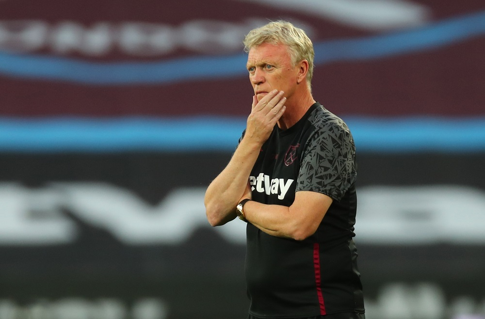 West Ham United manager David Moyes seen before the match against Charlton Athletic September 16, 2020. ― Reuters pic