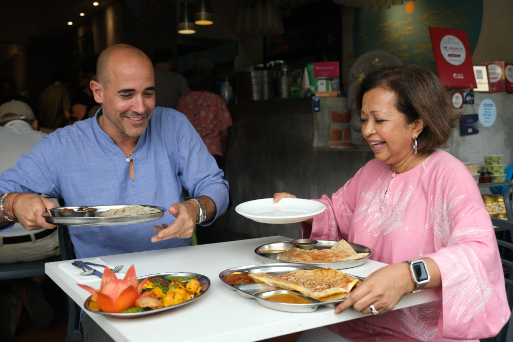 David Rocco sat down for a local meal with socio-political activist Datin Paduka Marina Mahathir, who has always been vocal about feminist concerns in the country. — Picture courtesy of National Geographic