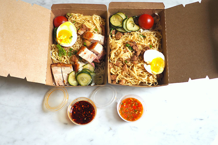 Your takeaway is packed in boxes, making it a good option if you're working at the office