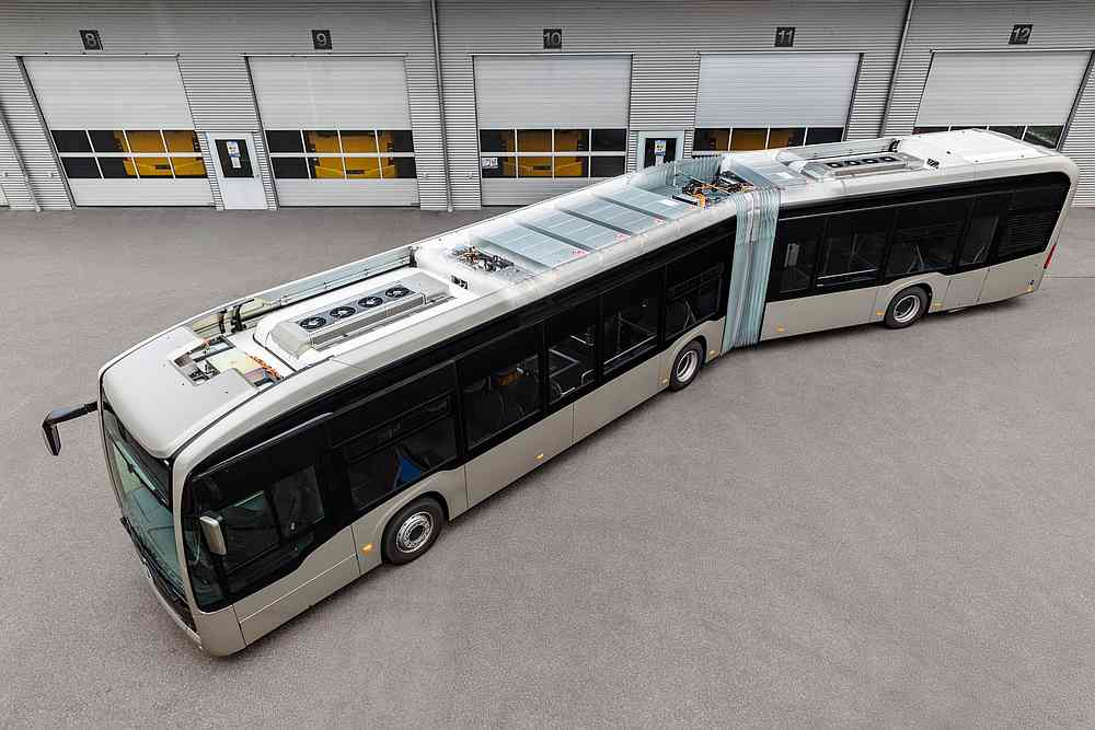 Mercedes-Benz eCitaro G will be the first all-electric bus to use more sustainable and long-lasting battery packs. — Picture courtesy of Daimler via AFP