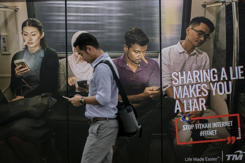 The Malaysian government has been hard at work educating Malaysians on the dangers of fake news since the Anti-Fake News Act was passed in 2018. —  Picture by Hari Anggara