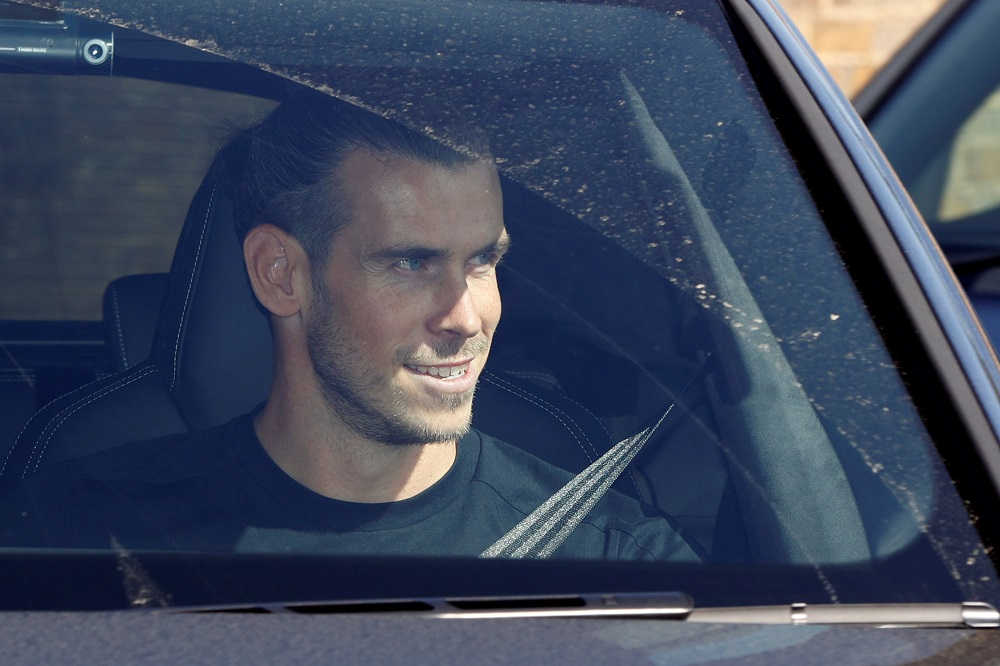 Gareth Bale arrives at the Tottenham Hotspur Training Centre in London September 18, 2020. ― Reuters pic