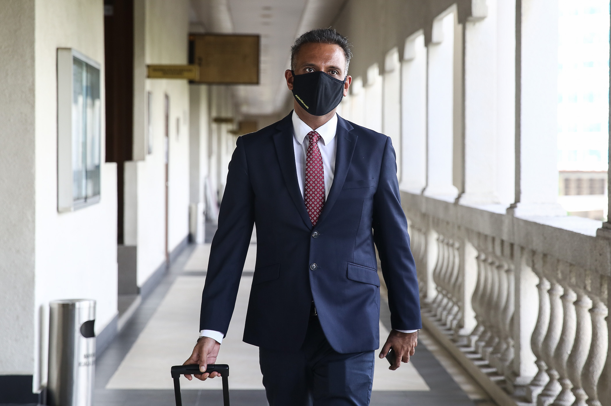 Lawyer Ramkarpal Singh is pictured at the Kuala Lumpur High Court September 9, 2020. — Picture by Yusof Mat Isa