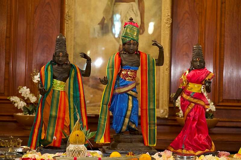 Three bronze statues returned by Britain to India more than 40 years after they were stolen from a Hindu temple in the southern Indian state of Tamil Nadu in this undated photo obtained September 16, 2020. — Metropolitan Police handout via Reuters