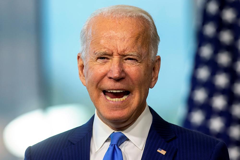Democratic US presidential nominee Joe Biden delivers remarks regarding the Supreme Court at the National Constitution Center in Philadelphia, Pennsylvania September 20, 2020. — Reuters pic