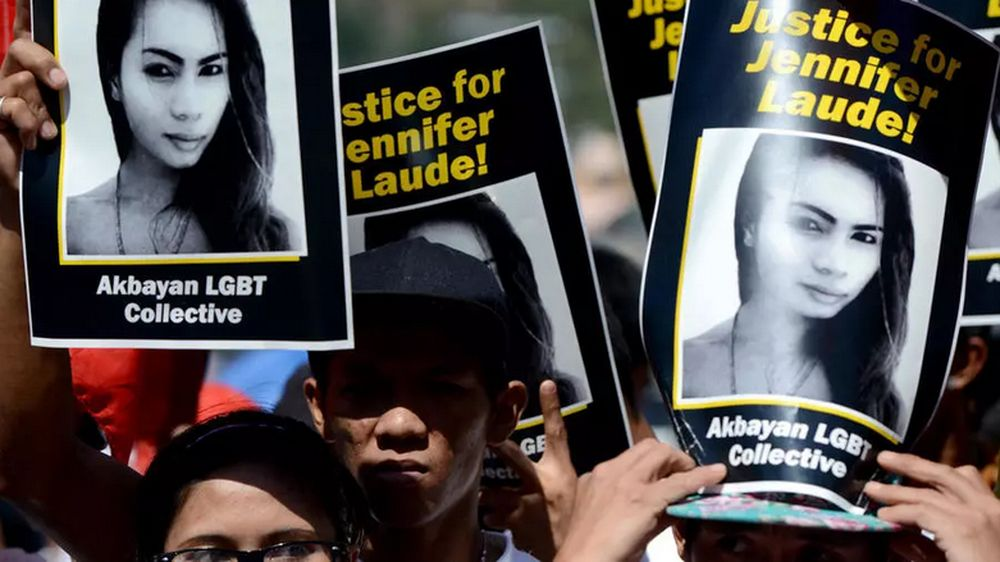 Transgender woman Jennifer Laude was killed in 2014 and Joseph Scott Pemberton was sentenced to 10 years for homicide. — AFP pic
