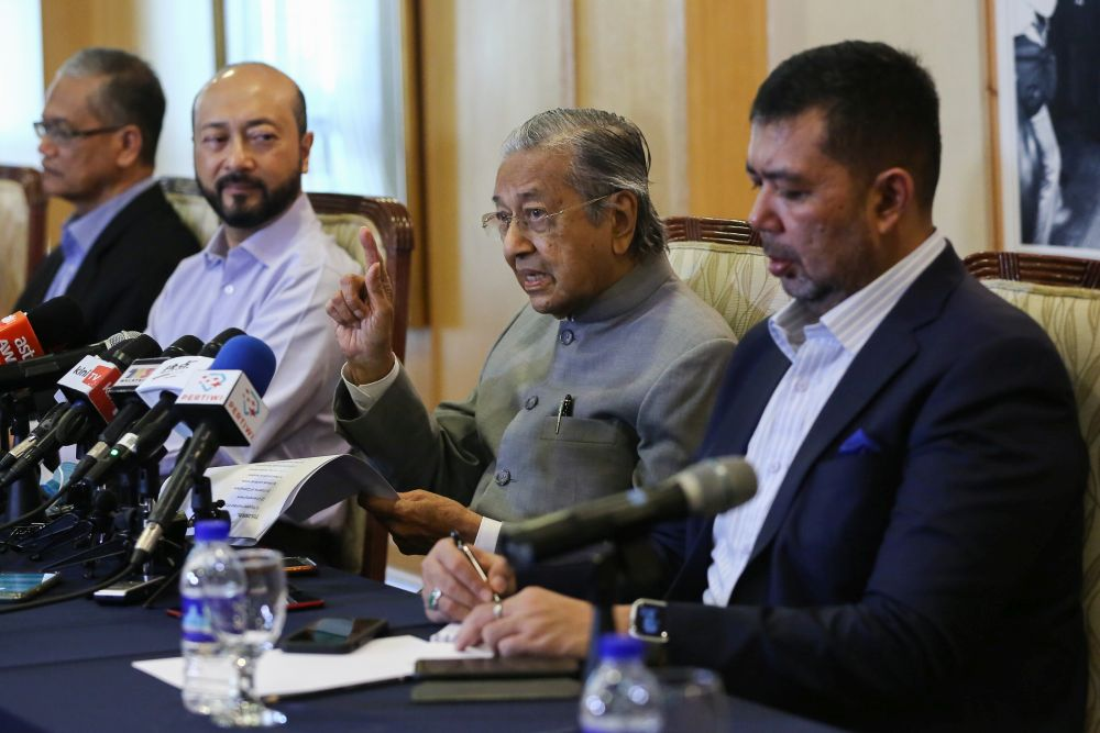 Tun Dr Mahathir Mohamad speaks during a press conference at the Perdana Leadership Foundation in Putrajaya September 3, 2020. ― Picture by Yusof Mat Isa