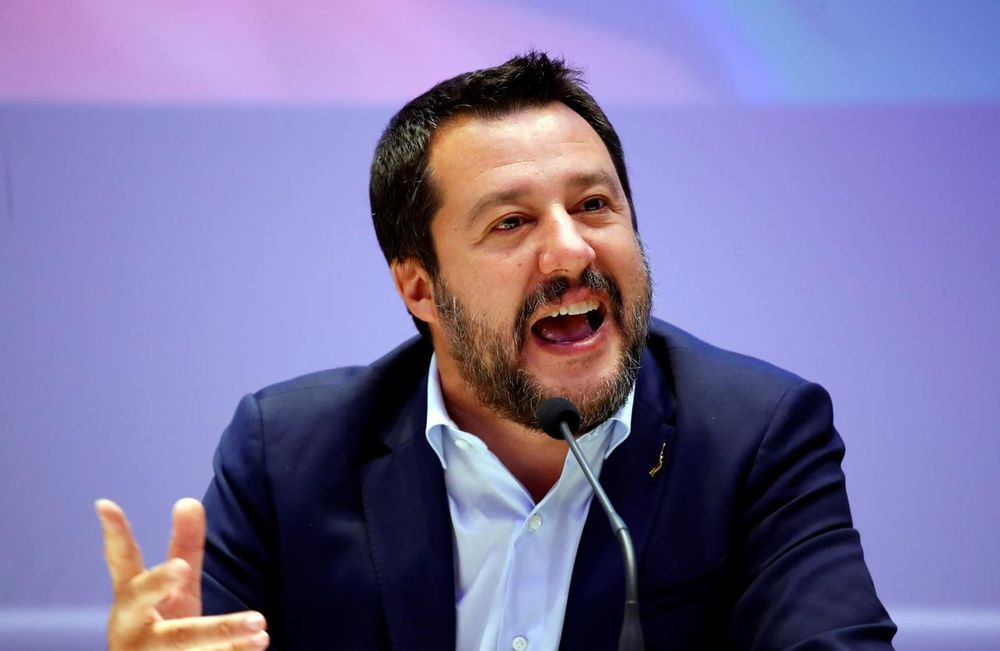Matteo Salvini, Italy's Deputy Prime Minister and leader of the far-right League Party, speaks as he launches campaigning for the European elections, in Milan, Italy April 8, 2019. — Reuters pic
