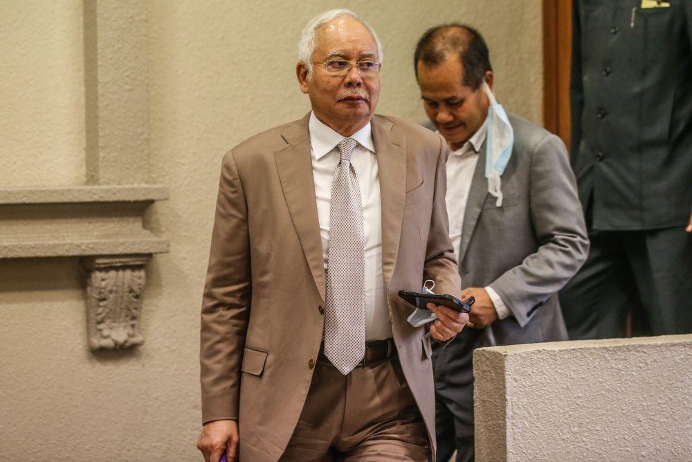 Datuk Seri Najib Razak is pictured at the Kuala Lumpur High Court on September 2, 2020. ― Picture by Firdaus Latif