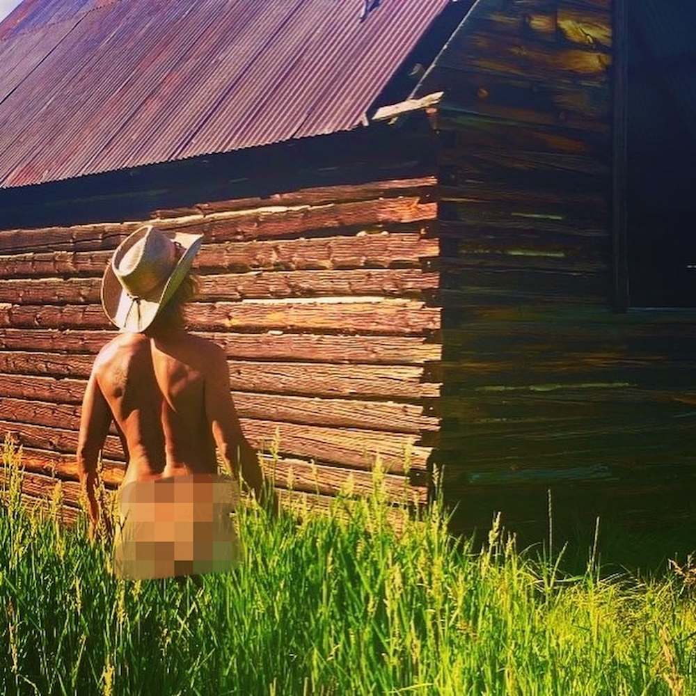 According to Powers, it was during his time working at his family's ranch where he unleashed his inner naturist. — Picture from Instagram/Thenakedrancher2.0