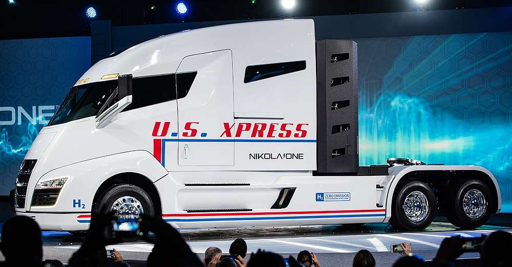 Nikola One during presentation — Picture courtesy of Nikola Corp