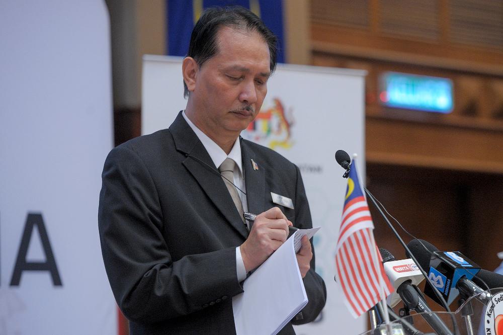 Health director-general Tan Sri Dr Noor Hisham Abdullah speaks at a press conference in Putrajaya September 10, 2020. — Picture by Shafwan Zaidon
