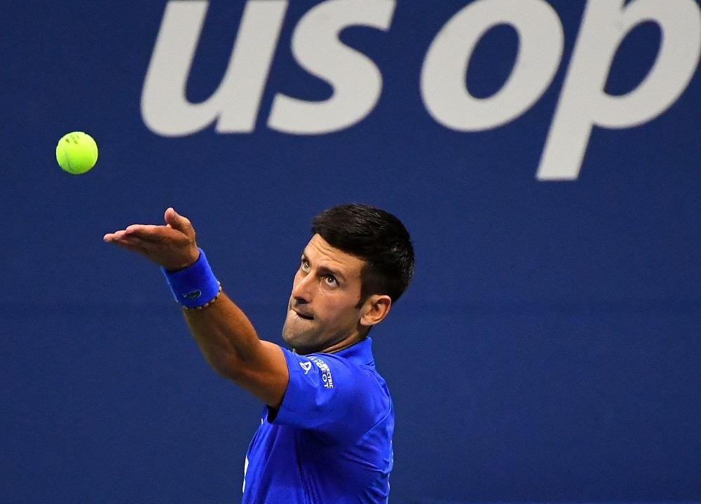 Novak Djokovic (pic) serves the ball against Damir Dzumhur on Day 1 of the 2020 US Open tennis tournament at USTA Billie Jean King National Tennis Center August 31, 2020. ― Robert Deutsch-USA TODAY Sports pic via Reuters