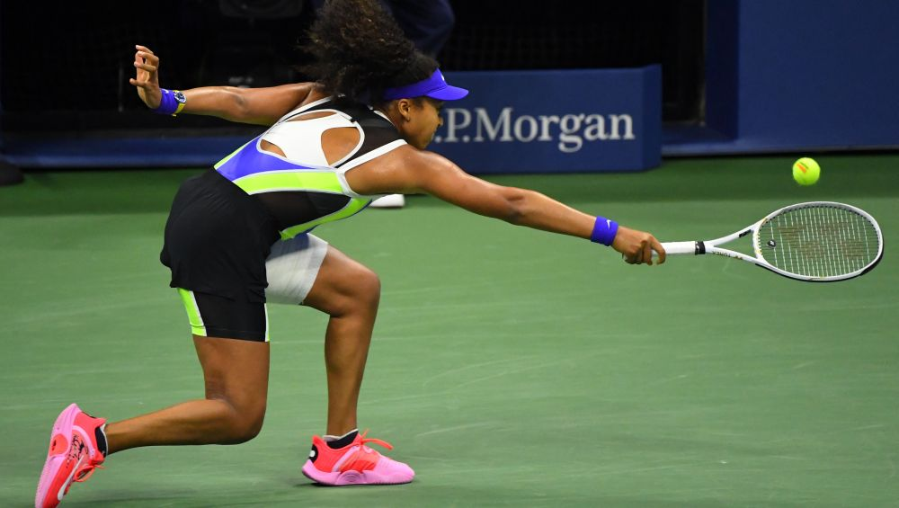Naomi Osaka had her left hamstring wrapped in tape when she battled back to defeat Victoria Azarenka at the US Open final at Flushing Meadows last week en route to her third Grand Slam title. — Reuters pic