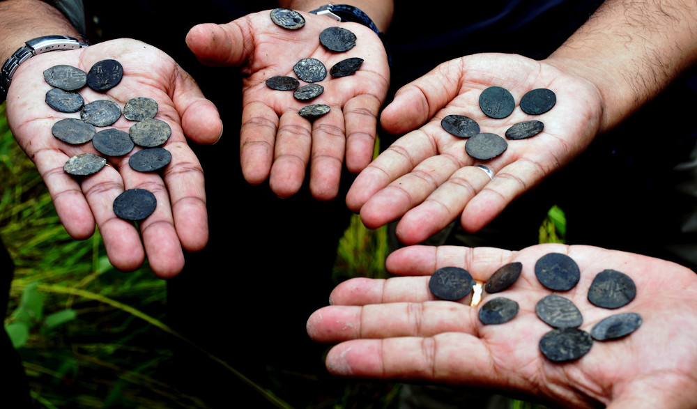Coins believed to be from the Melaka Sultanate era. National Heritage Department director-general Mesran Mohd Yusop said pieces of wood believed to be from a sunken merchant ship used at that time were also found at the same location. — Bernama pic