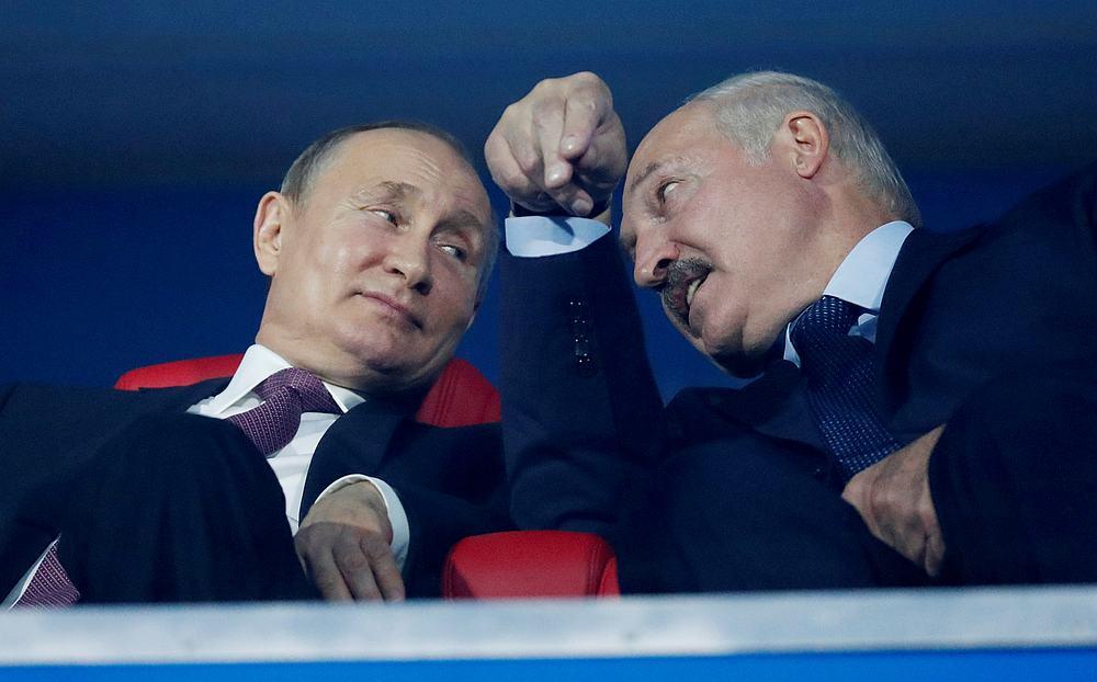 President of Russia Vladimir Putin and President of Belarus Alexander Lukashenko in Minsk, Belarus June 30, 2019. — Reuters pic