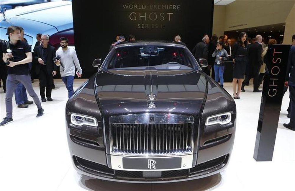 File picture shows the Rolls Royce Ghost series II during the media day ahead of the 84th Geneva Motor Show at the Palexpo Arena in Geneva March 4, 2014. — Reuters pic