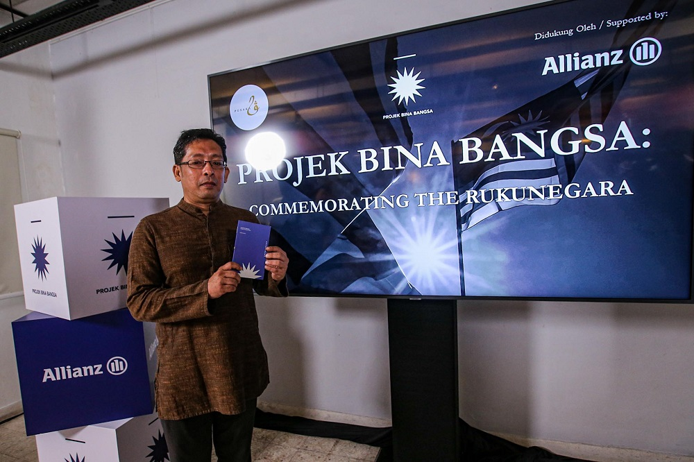 Founder and director of Pusaka Eddin Khoo at the launch of 'The Rukunegara: A Brief Introduction by Pusaka' in Bangsar September 12, 2020. ― Picture by Hari Anggara