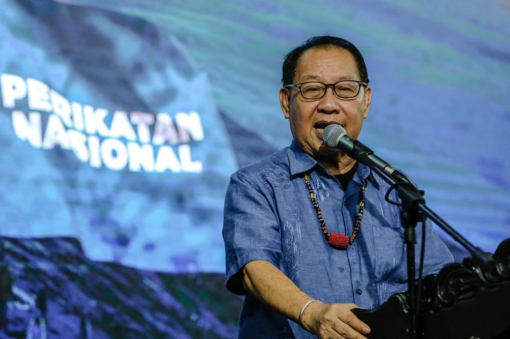Datuk Seri Jeffrey Kitingan speaks while campaigning in Putatan Sabah September 24, 2020. ― Picture by Firdaus Latif
