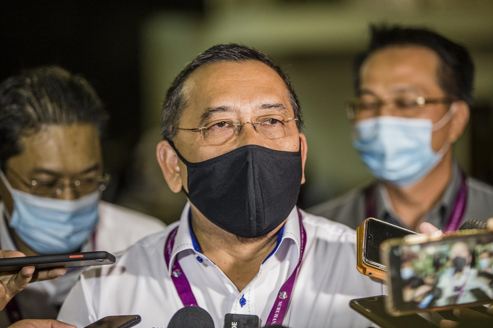 Election Commission chairman Abdul Ghani Salleh today said two EC officers are positive for Covid-19. ― Picture by Firdaus Latif