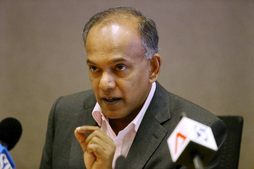 Law and Home Affairs Minister K Shanmugam told reporters on Sept 16, 2020 that he will give a ministerial statement in Parliament on the case of Parti Liyani. — TODAY file pic