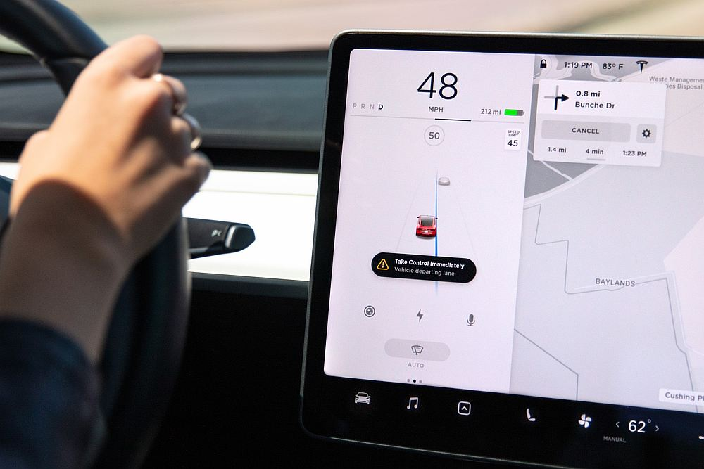 Owners of Teslas with Autopilot will soon have access to new features. — Picture courtesy of Tesla via AFP
