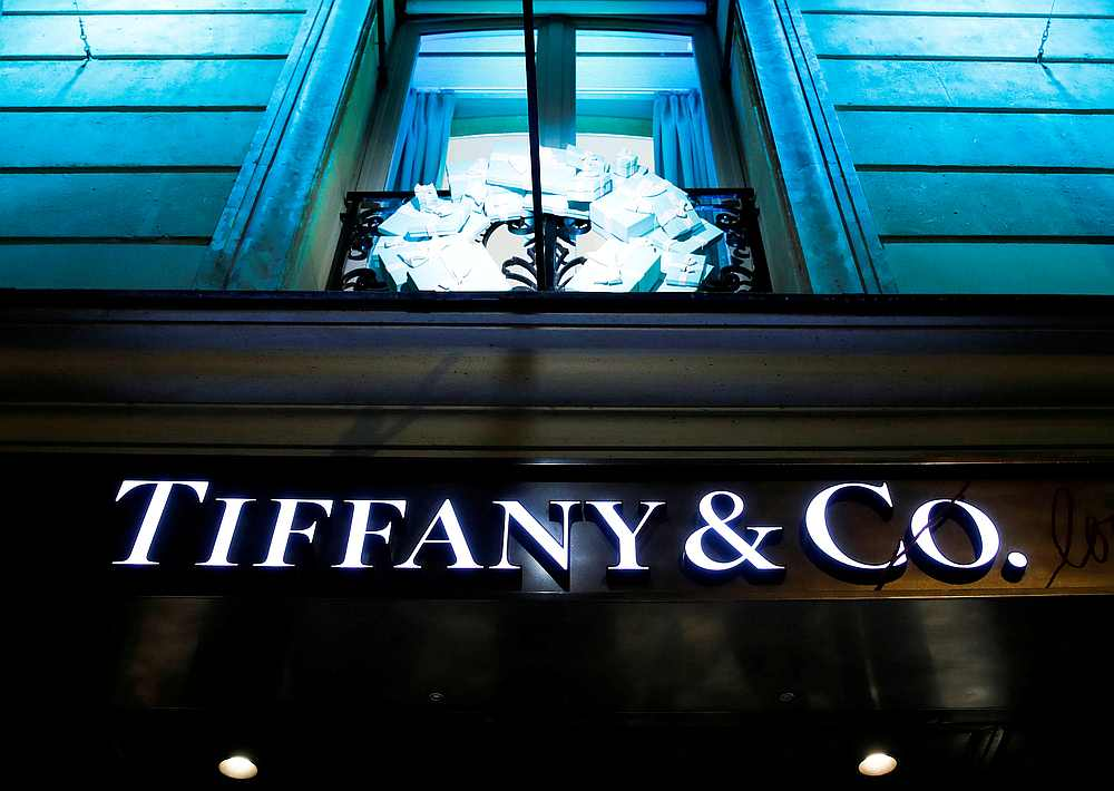 A Tiffany & Co logo is seen outside a store in Paris, France. — Reuters pic