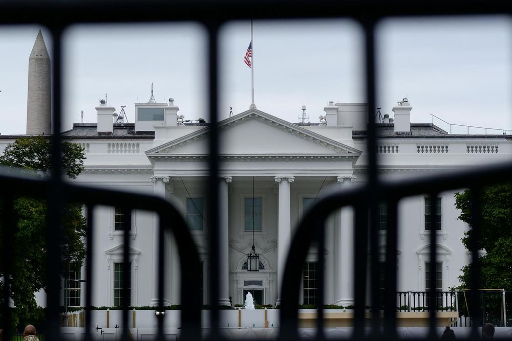 The White House is seen through a metal gate in Washington, US, October 6, 2019. — Reuters pic
