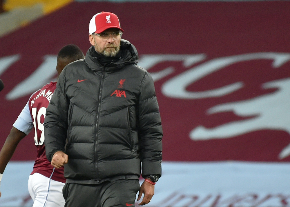 Liverpool manager Juergen Klopp has been without the services of Kostas Tsimikas, Thiago Alcantara and Naby Keita for varying lengths of time.— Pool via Reuters/Rui Vieira