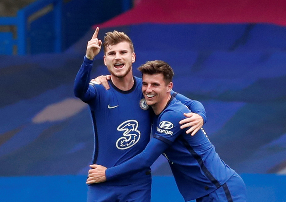 Timo Werner, who joined Chelsea from Bundesliga club RB Leipzig in the close season for around €50 million has not scored in his last 10 Premier League appearances. — Reuters pic