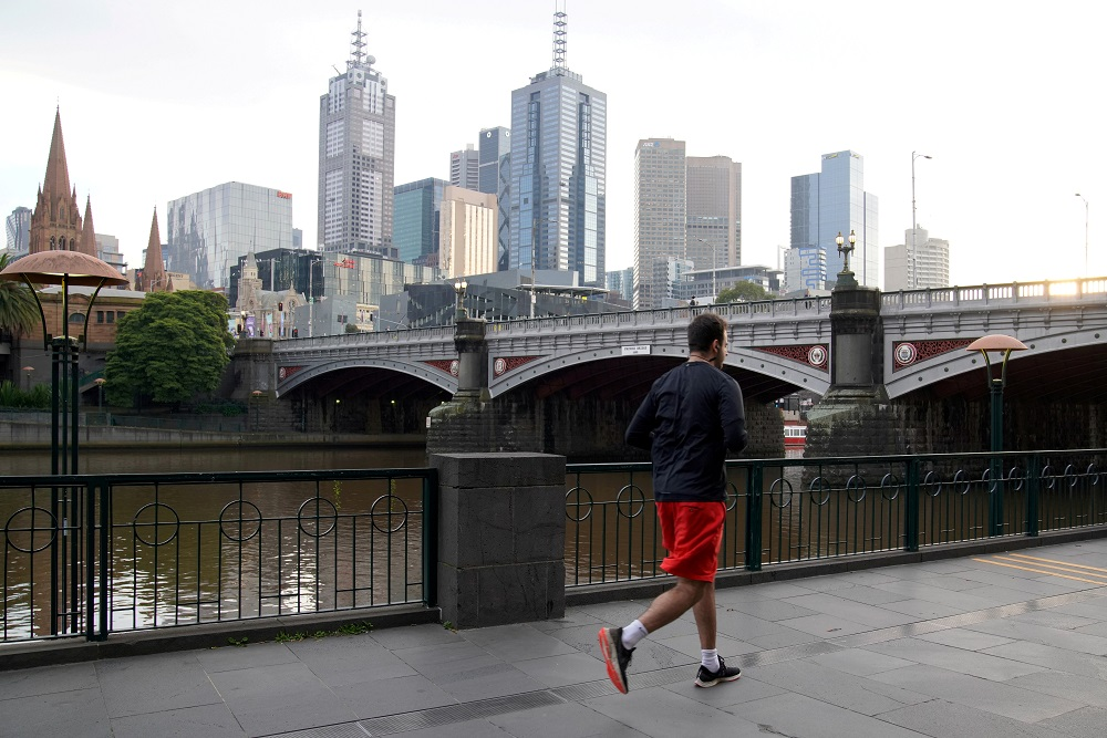 Victoria's capital Melbourne, which has been the epicentre of the country's Covid-19 outbreak, is in its third month of a stringent lockdown and Premier Daniel Andrews is due to update plans to ease restrictions across the state tomorrow. — Reuters pic