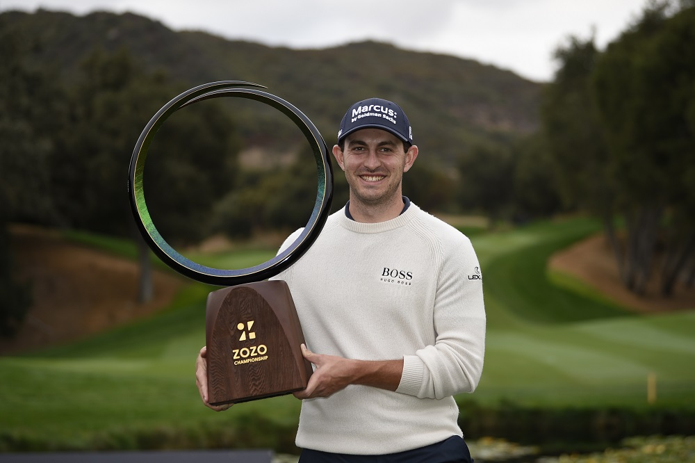 Patrick Cantlay celebrates with the Zozo trophy after winning the Zozo Championship golf tournament at Sherwood Country Club in California October 25, 2020. — Picture by Kelvin Kuo-USA TODAY Sports via Reuters