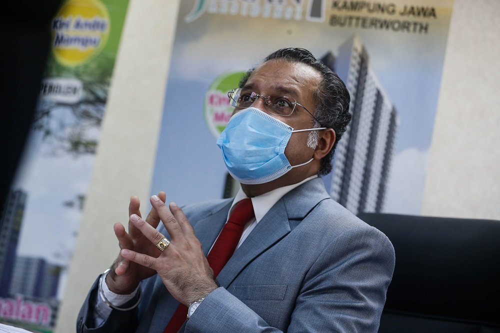 Penang exco Jagdeep Singh Deo speaks during a press conference at Komtar in George Town October 5, 2020. — Picture by Sayuti Zainudin