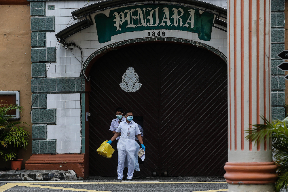 Prisons Department in a statement today said the department would provide a video conference facility via the department's email (Icewarp) starting May 15 (Saturday) until June 7. — Picture by Sayuti Zainudin