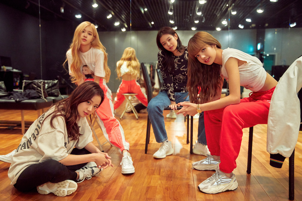 The film will show (from left) Jisoo, Rosé, Jennie, and Lisa reflecting on their rollercoaster journeys. — Picture courtesy of Netflix