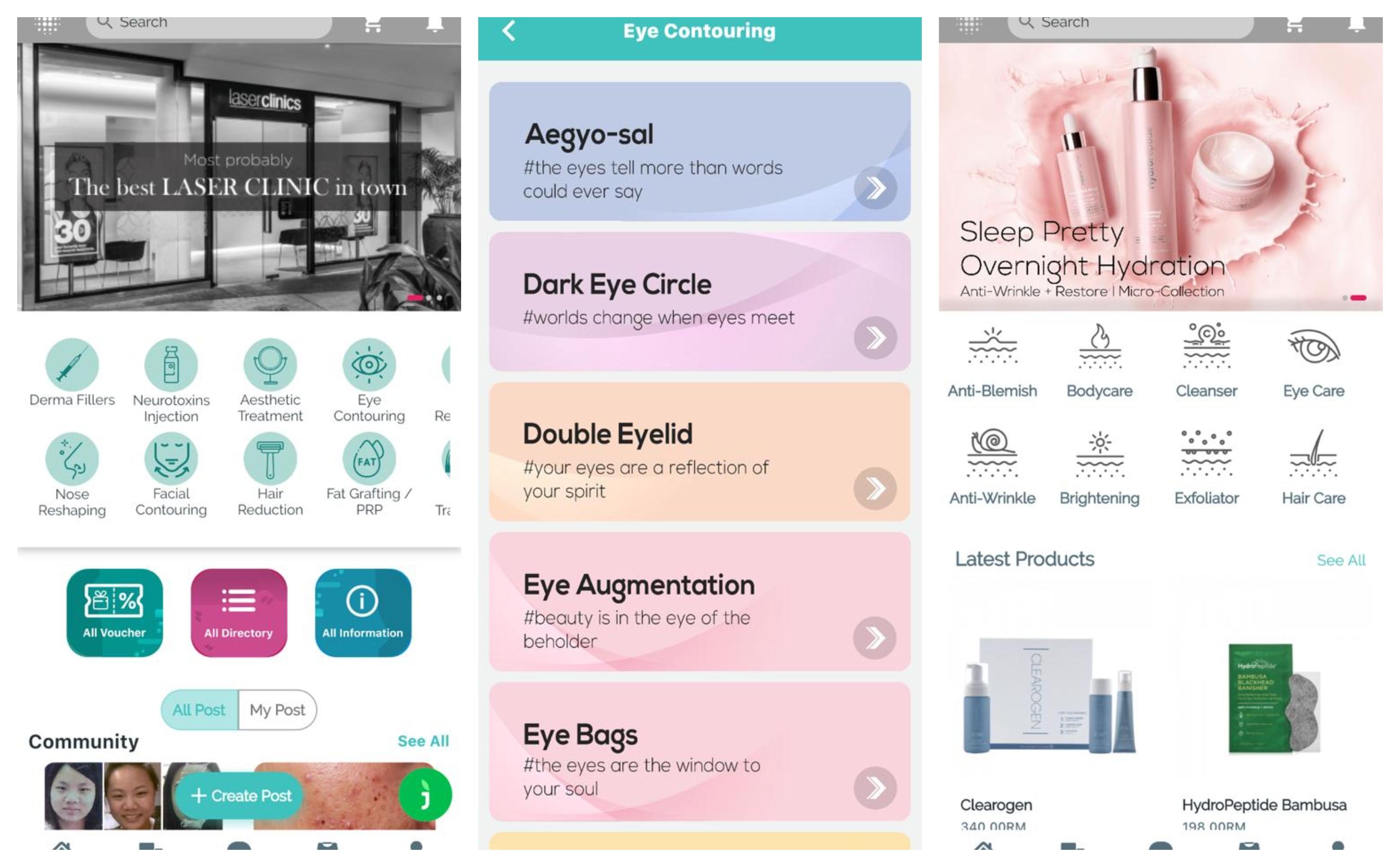 NextBeu手机应用程序就是像美容百科全书,能提供美容行业的广泛信息-Cosderm 私人有限公司提供-