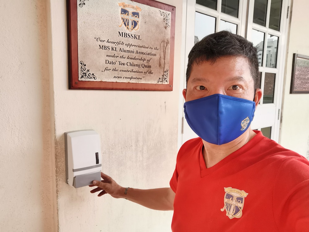 Yum said that they have donated over 900 litres of hand sanitiser since the start of the MCO. —Picture courtesy of KC Yum.