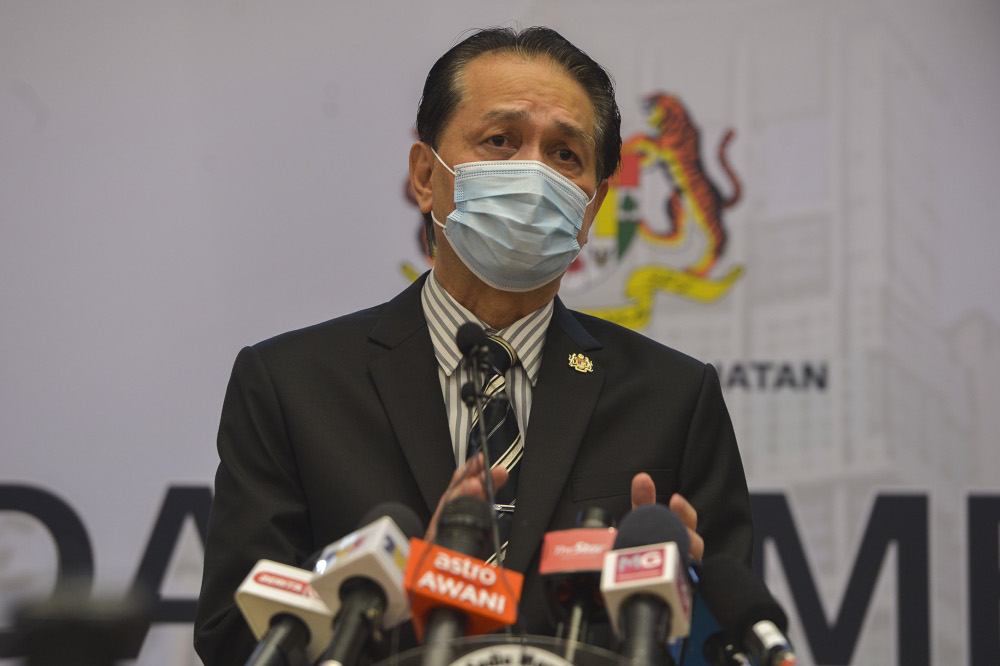 Health director-general Tan Sri Dr Noor Hisham Abdullah said nine hospitals and 31 quarantine centres have been built catering to infected patients there. — Picture by Miera Zulyana