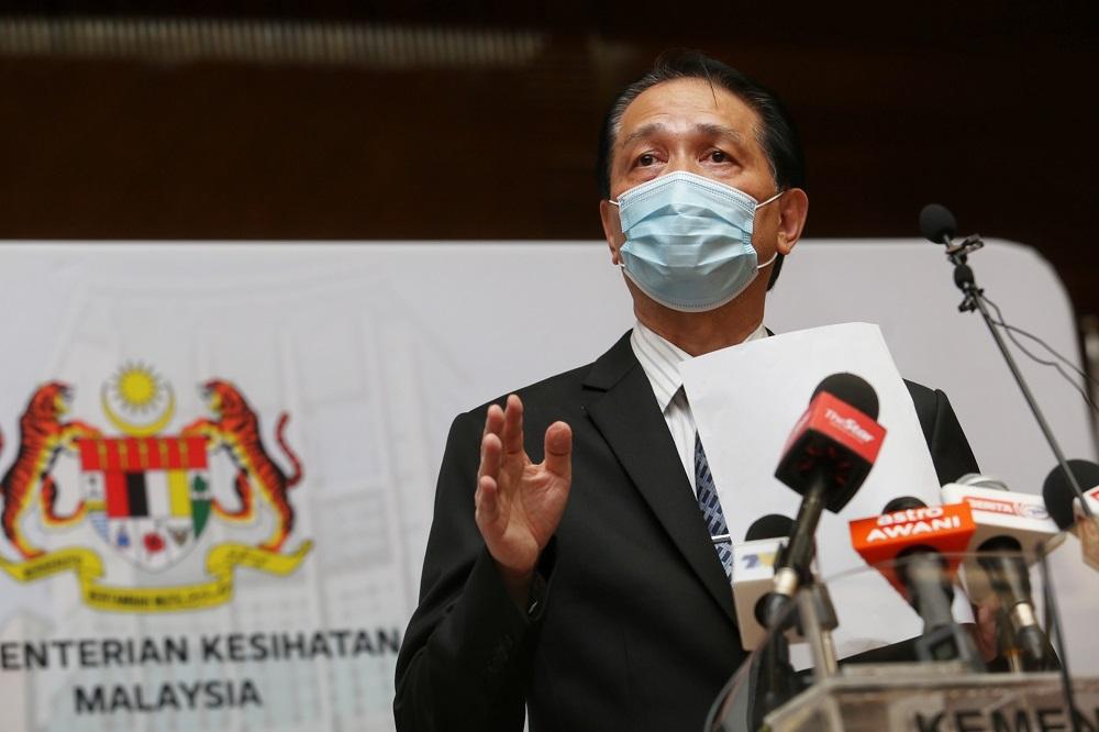 Health director-general Tan Sri Dr Noor Hisham Abdullah at a press conference in Putrajaya October 27, 2020. — Picture by Choo Choy May