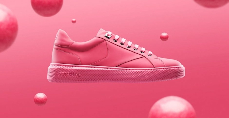 The Gumdrop start-up has created a pair of sneakers made with recycled chewing gum. — Picture courtesy of Gumdrop limited