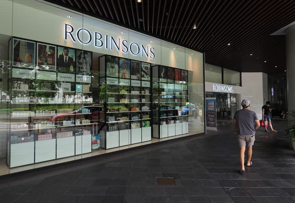 Robinsons' store at Raffles City is one of its two remaining stores in Singapore. — TODAY pic
