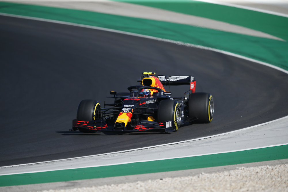 Red Bull's Alexander Albon in action during practice Pool at the Algarve International Circuit, Portimao, Portugal, October 24, 2020. ― Reuters pic